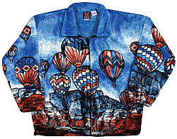 Soaring - Hot Air Balloon Plush Fleece Jacket Adult (XS - 4X)