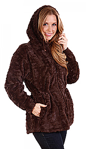 Andrea Faye Frankford 'Brown' Hooded Jacket Adult  (XS-2X)