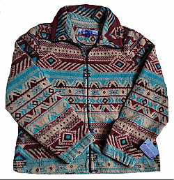 San Marco Womens Looped Wool Cinchback Southwestern Aztec Jacket