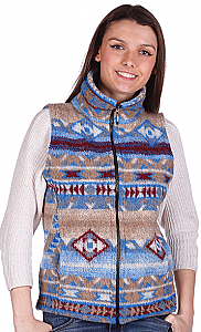 Salinas Southwest Looped Wool Fleece Cinchbach Vest (med)