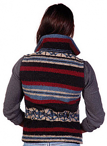 San Pablo Southwest Looped Wool Fleece Cinchbach Vest (Xl)