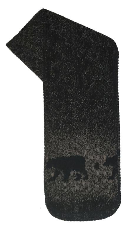 Black Bears Fleece Scarf Made USA
