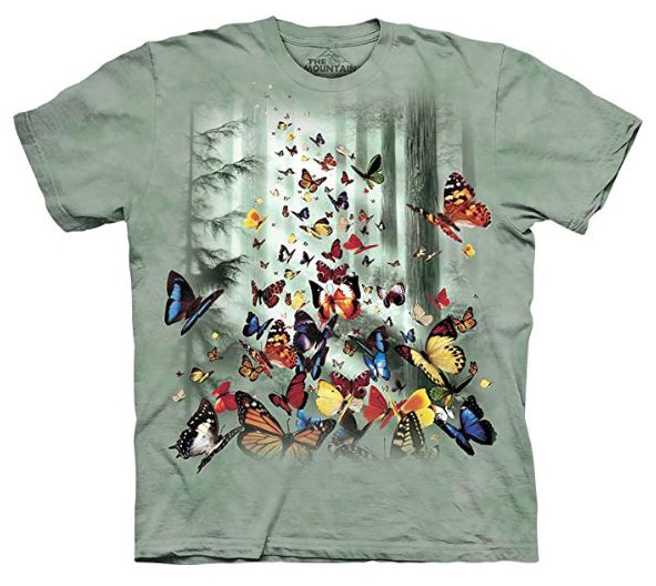 The Mountain Butterflies Monarch Ulysses Swallowtail T-Shirt Sm - 2X New