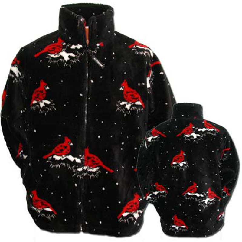Black Mountain Cardinals Ultra Plush Fleece Jacket Adult (XS - XL)