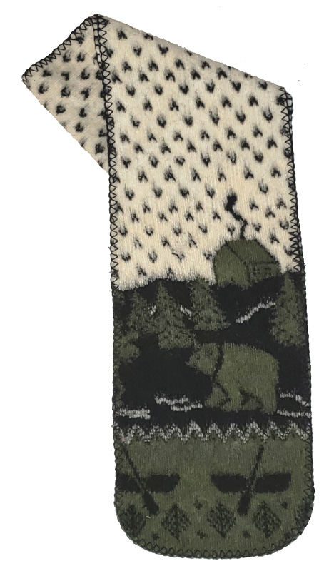 Country Cabin Bear Canoe Fleece Scarf Made USA