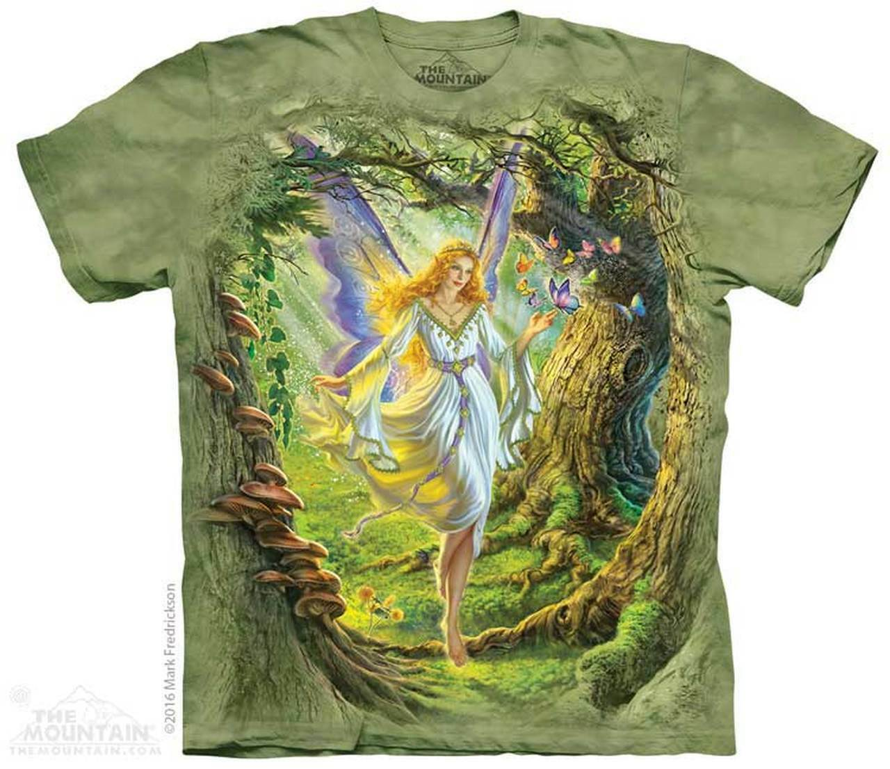 The Mountain Fairy Queen Short Sleeve Fantasy Adult T-Shirt (Sm - 4X)