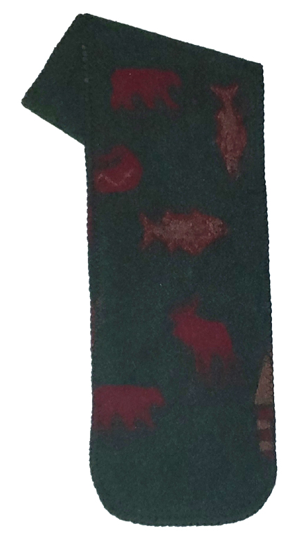 Clearance Sale Cabin Canoe Bear Fish Fleece Scarf