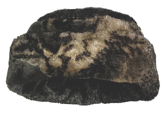 Gray Wolf Plush Fleece Hat