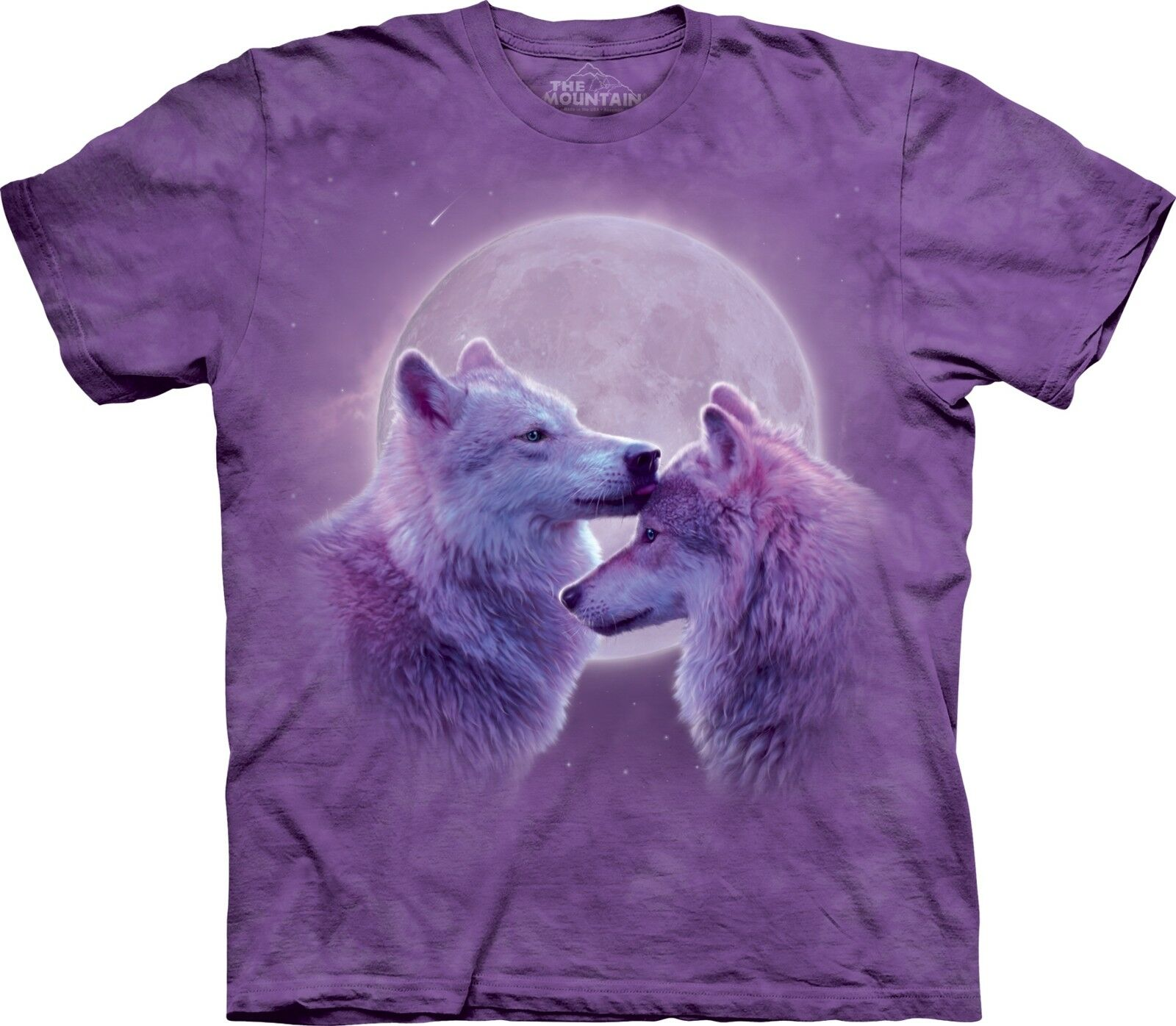 The Mountain Loving Wolves Moon Short Sleeve Wolf T-Shirt New (Sm - 2X)