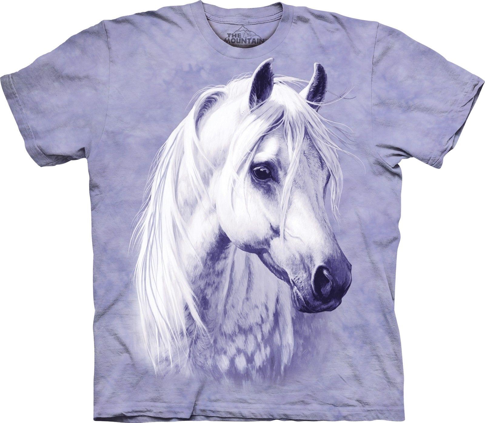 The Mountain Moonshadow Short Sleeve Arabian White Horse Adult T-Shirt (Sm - 3x)