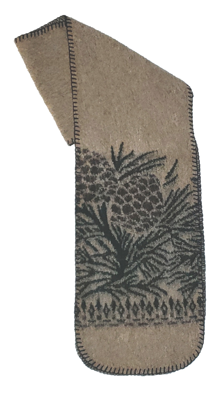 Pine Cones Fleece Scarf Made USA