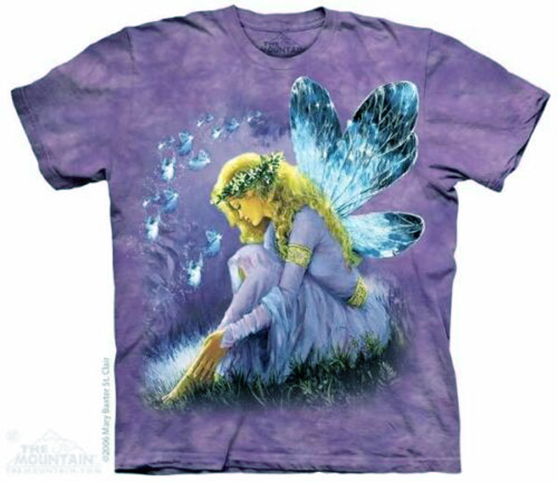New The Mountain Purple Winged Fairy Angel Fantasy T-Shirt (Sm - 3X)