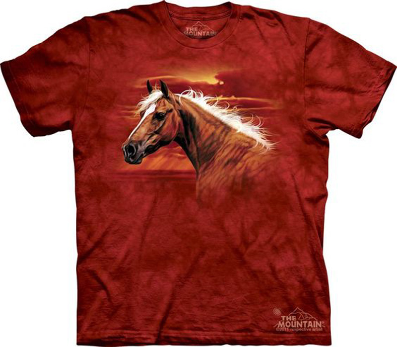 The Mountain Radiant Dream Palomino Short Sleeve Horse T-Shirt (Sm - 3X)