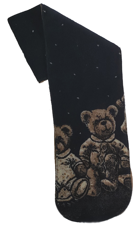 Teddy Bear Plush Fleece Scarf with Micro suede back