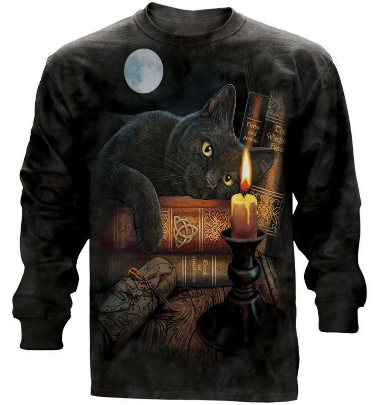The Mountain The Witching Hour Long Sleeve Black Cat T-Shirt (3X)