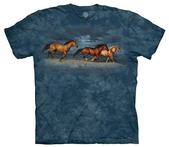 The Mountain Thunder Ridge Adult Horse T-Shirt by Chirs Cummings (Sm - 3X)