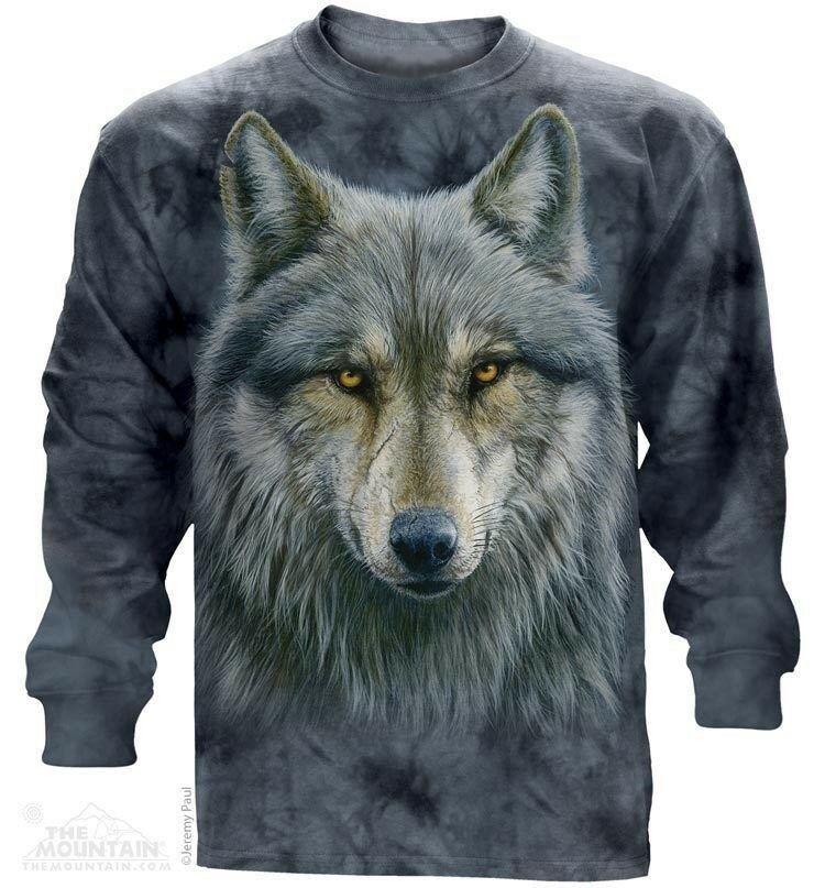 The Mountian Warrior Wolf Long Sleeve Shirt