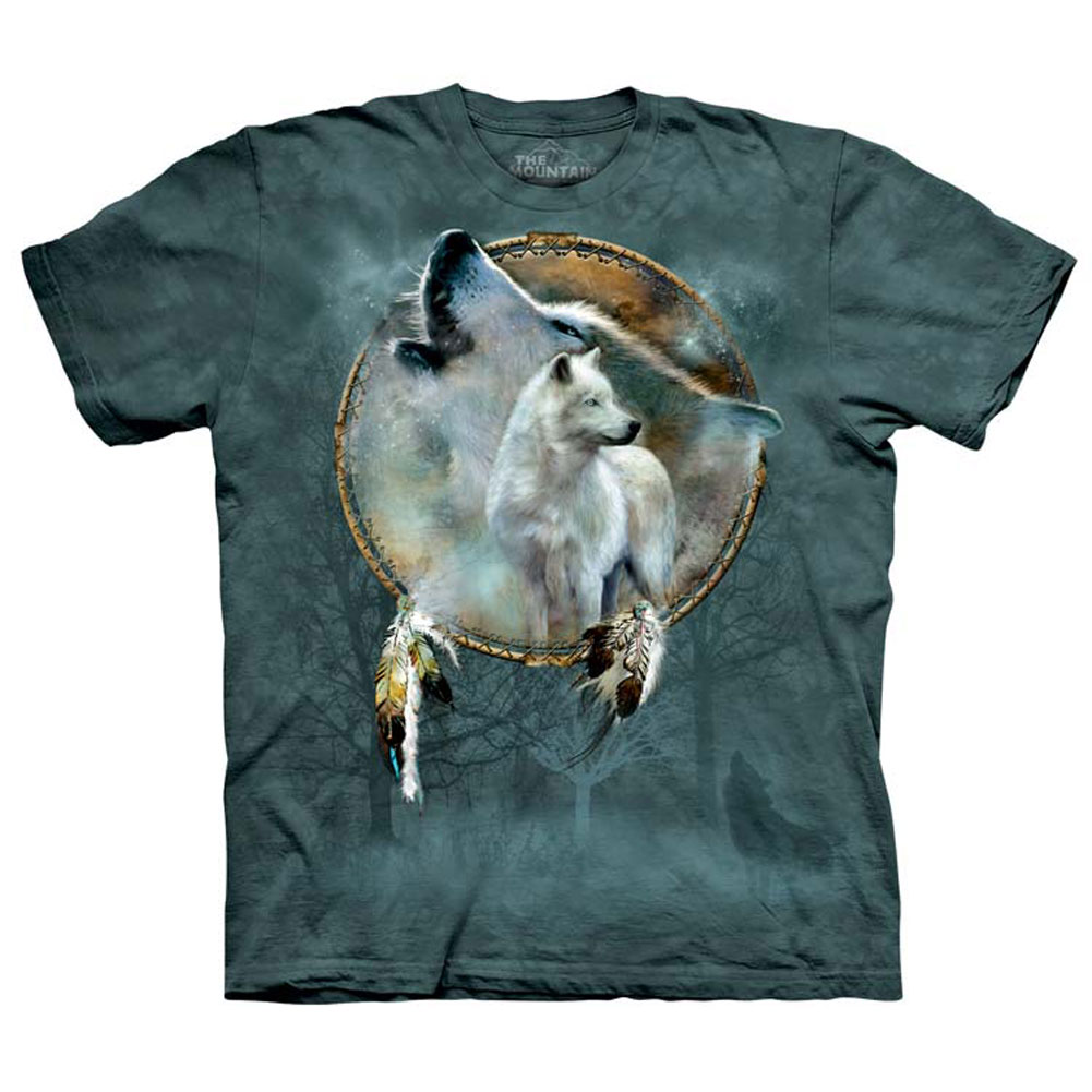 The Mountain Wolf Spirit Shield Native American T-Shirt (Sm - Lg) New