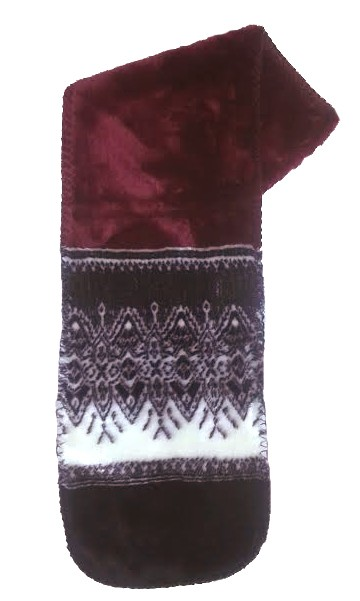 Arctic Snowflakes Plush Fleece Scarf