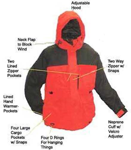 Arctic Armor Floating Extreme Weather Jacket Red (XXS - 5X)