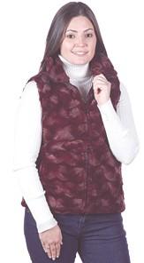 Andrea Faye Bordeaux Adult Boa Cinchback Vest (XS-2X)