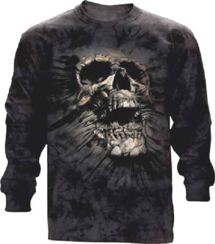 The Mountain Breakthrough Skull Long Sleeve Skeleton T-Shirt (Sm, Md, XL)