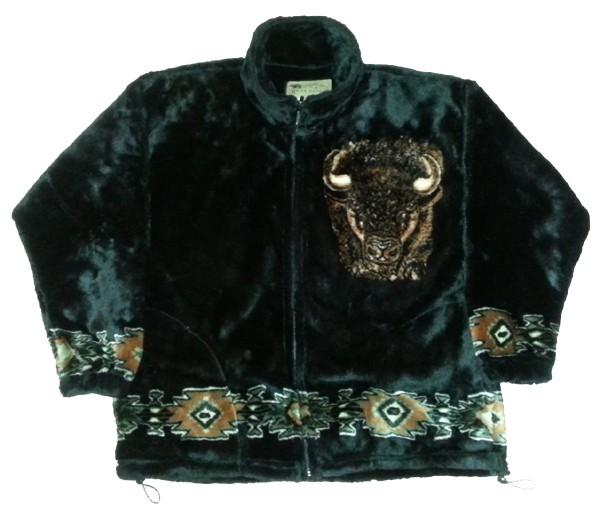 New Buffalo Bison Plush Fleece Jacket (SM - 2X)