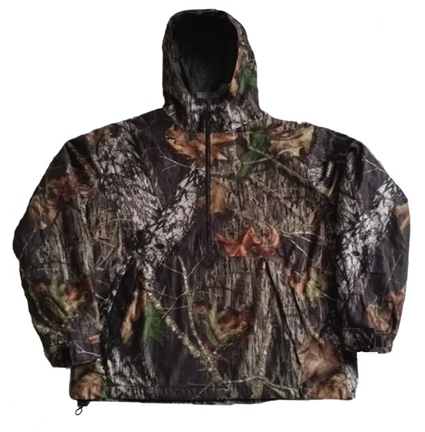 Clearance Sale Mossy Oak 1/2 Zip Pullover Windproof Waterproof Jacket by IDI Gear (Sm - 2x)