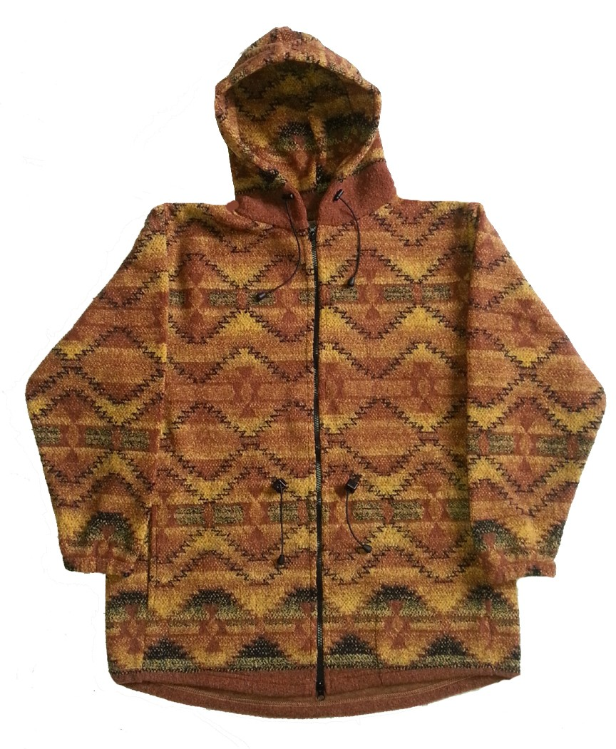 Clearance Sale Corona Looped Wool / Fleece Southwestern Hooded Jacket Adult (Sm - 3X)
