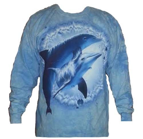The Mountain Dolphin Pair Long Sleeve Porpoise T-Shirt (2X)