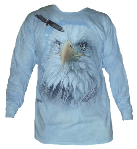 The Mountain Eagle Mountain Long Sleeve Bald Eagle Tee Shirt  (Lg, Xl, 3x)