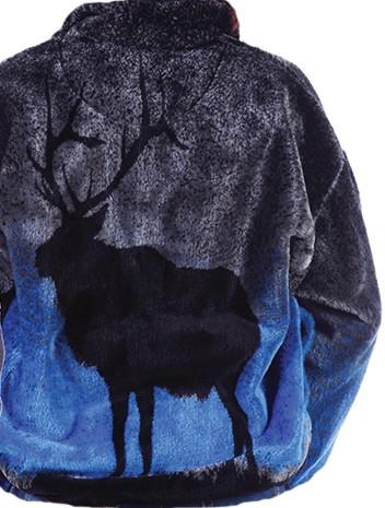 Elk Plush Fleece Jacket (XS - 2x)