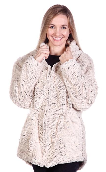 Andrea Faye Nicé Hooded Adult Boa Jacket (XS-4X)