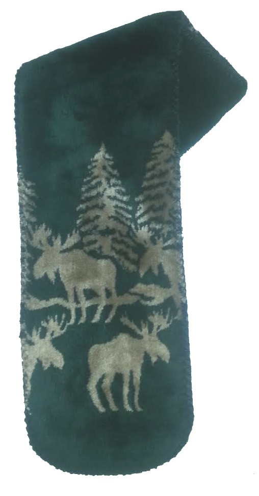 Forest Moose Plush Fleece Scarf