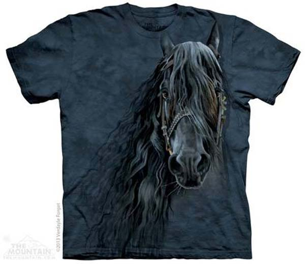 The Mountain Forever Friesian Short Sleeve Horse T-Shirt (Sm - 3x)
