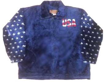 Freedom USA American Flag Plush Fleece Jacket Adult (Md - 3x)