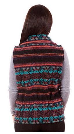 Fresno Southwest Looped Wool Fleece Cinchbach Vest