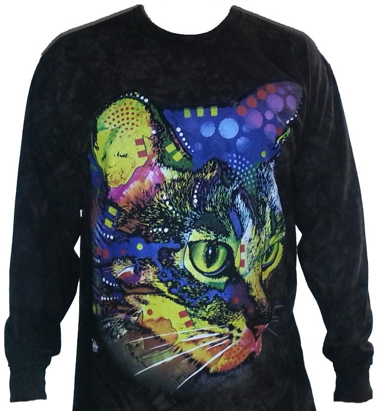 The Mountain Kitty Rainbow Cat Dean Russo Kitten Long Sleeve T Shirt (Med - 2x)