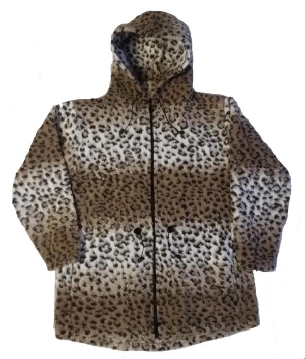 Clearance Sale Leopard Looped Wool / Fleece Cheetah Hooded Jacket Adult (Sm - 3X)