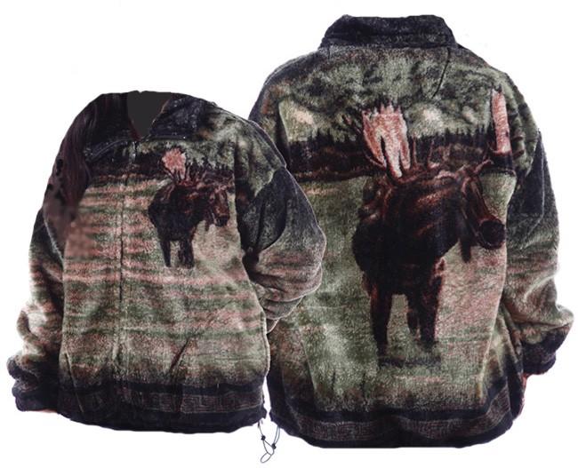 Bear Ridge Outfitters Moose Plush Fleece Jacket Adult (XS - 2X)