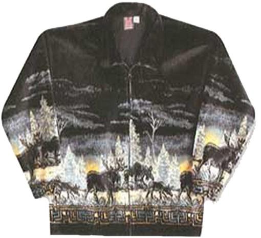 Sunrise Moose Microplush Fleece Jacket Adult (MD - 5X)