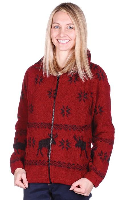 Red Moose Looped Wool Fleece Ladies Cinchbach Jacket