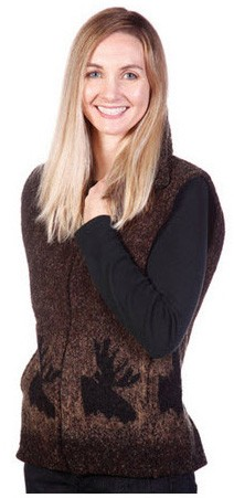 Moose Looped Wool Fleece Cinchbach Vest