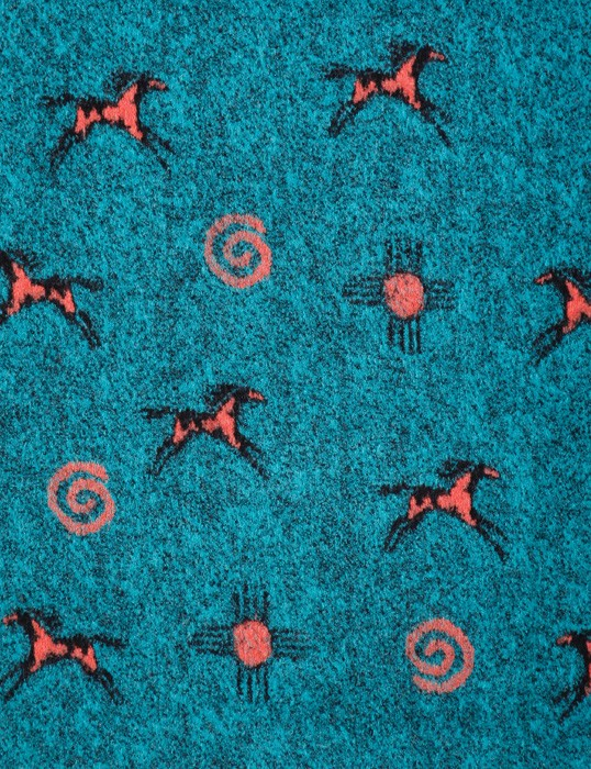 Sale Native Horses Looped Wool / Fleece Blanket