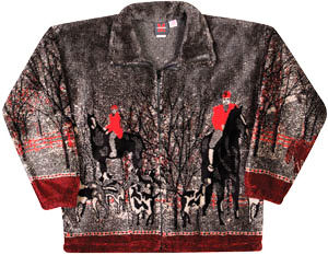 Fox Hunt Jacket Plush Fleece Horse Adult