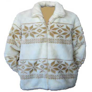 Snowflakes Plush Fleece Jacket Adult (Xs - Sm)
