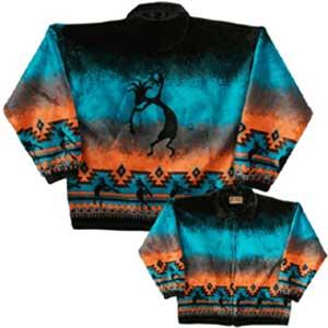 Kokopelli Plush Fleece Jacket Adult (Xs - 2X)