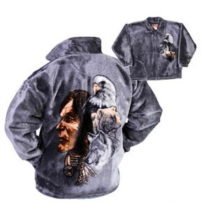 The Shaman Plush Fleece Jacket Adult (Lg)