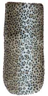 Clearance Leopard Print Plush Fleece Scarf