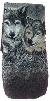 Resting Wolves Plush Fleece Scarf
